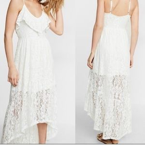 Express High Low White Lace Dress